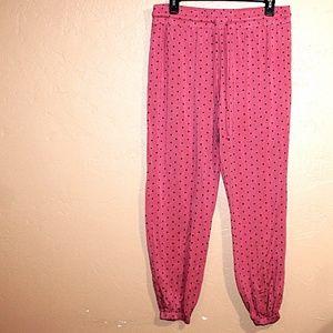 Pink Polka Dot Pajama Pants